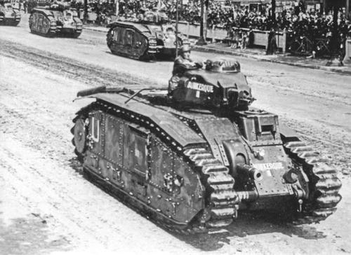 Тяжелые танки «Char B1» на военном параде. 1939 г.