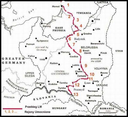 Линия Молотова и укрепленные районы на ней.