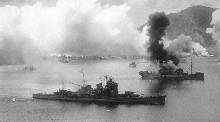 Корабли у Рабаула.