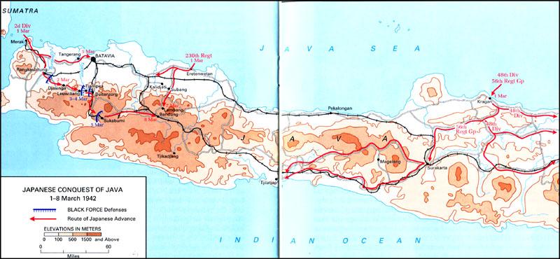 Продвижение японских войск на Яве.