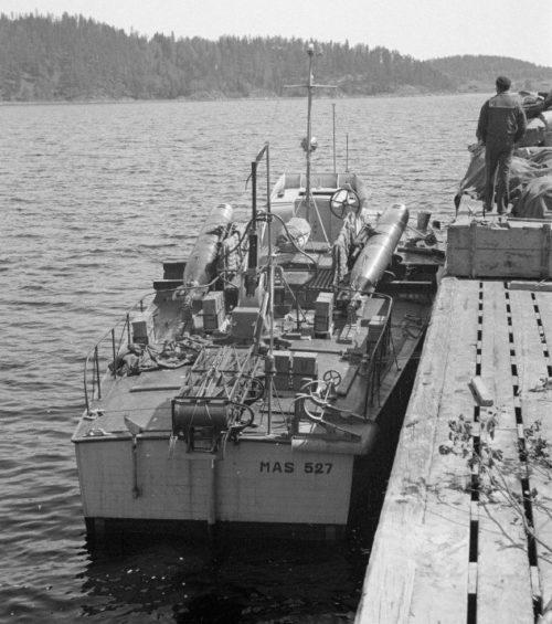 Итальянский торпедный катер типа MAS на Ладожском озере. Июнь 1942 г.
