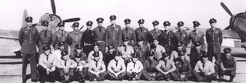 Коллективное фото мексиканской 201-й эскадрильи. 1942 г.