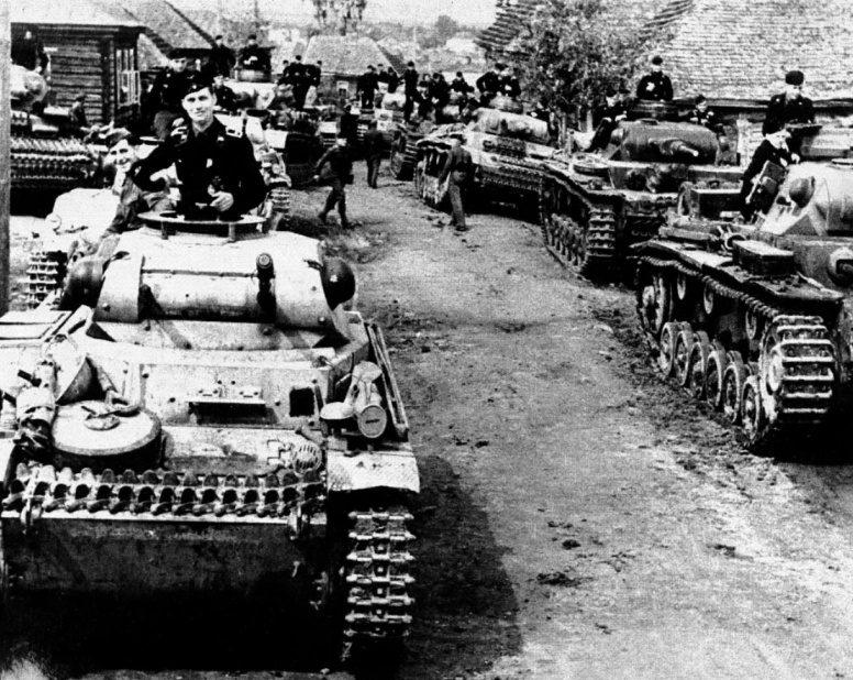 Немецкие танки в районе Ржева.