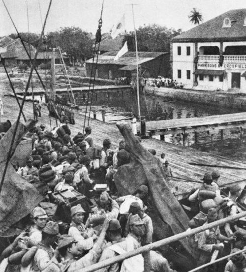 Японский десант на Борнео.