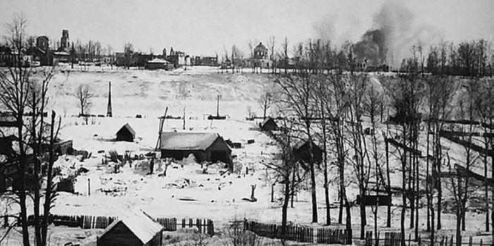 Вид на Холм с Татиловской стороны. Декабрь 1941 г.