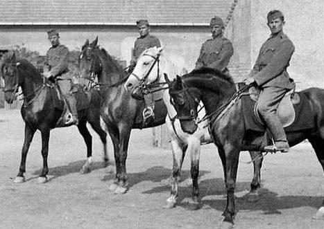 Венгерские кавалеристы. 1939 г.
