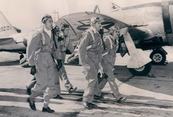 Мексиканские пилоты 201-й эскадрильи. 1942 г.