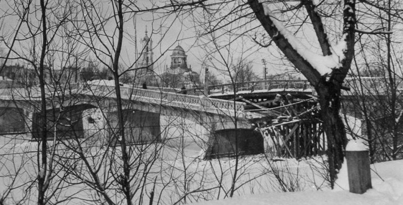 Разрушенный мост через Псел. 1942 г.