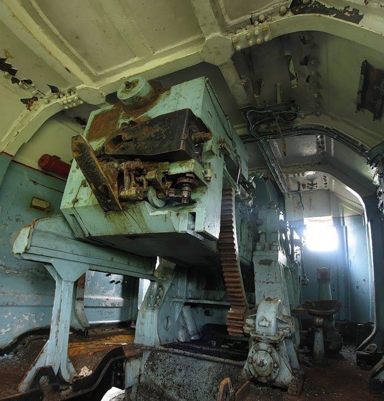 Поворотно-подъемные механизмы башни и орудия.