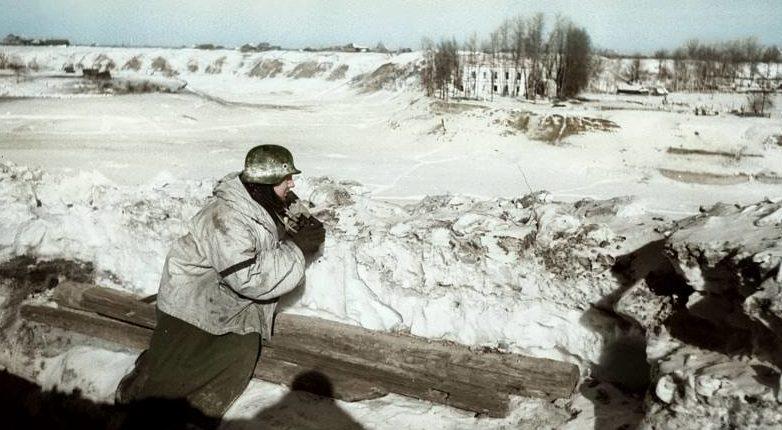 В немецких окопах «котла». Январь 1942 г.