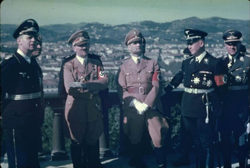 Делегация Гитлера во время визита в Италию. Флоренция, май 1938 г.