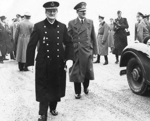 Адмирал Хорти во время визита к Гитлеру. Зальцбург, 18 марта 1944 г.