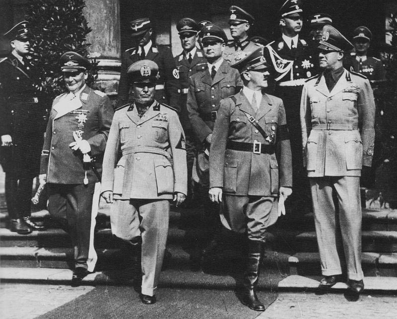 Высшее командование Германии и Италии во время «Мюнхенского сговора». Сентябрь 1938 г.