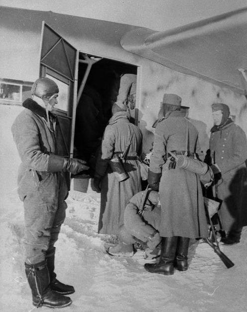 Ротация немецкого гарнизона. Январь 1942 г.