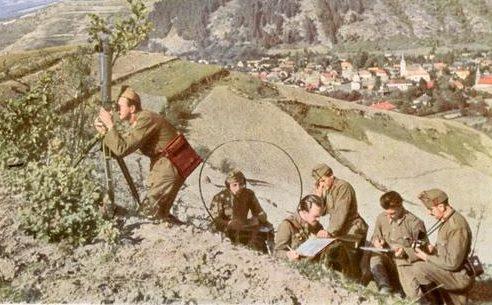 Венгерские артиллерийские наблюдатели в Эрдели. 9 сентября 1940 г.