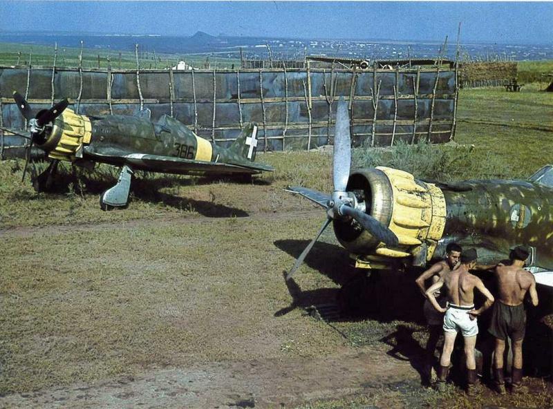 Истребители 386-эскадрильи 22-ой авиагруппы. Лето 1942 г.