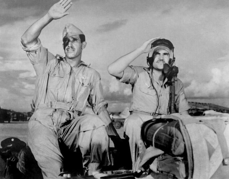 Мексиканцы на авиабазе 201-й эскадрильи. 1945 г