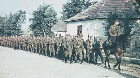 Венгерская пехота в Эрдели. Сентябрь 1940 г.