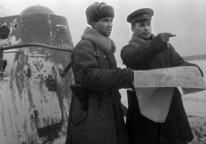 Советские командиры на Можайском направлении. Декабрь 1941 г.