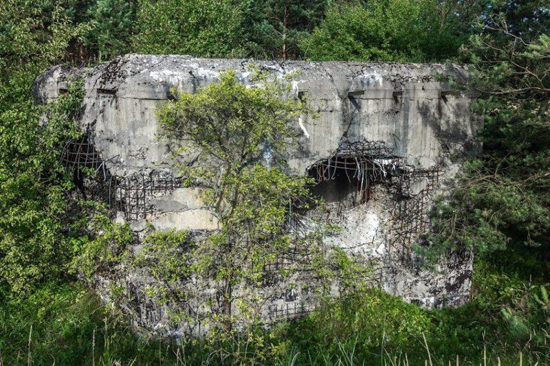 Разрушенный ДОТ №71 у деревни Новоселки.