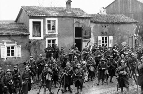Французские войска во время Странной войны. 18 декабря 1939 г.