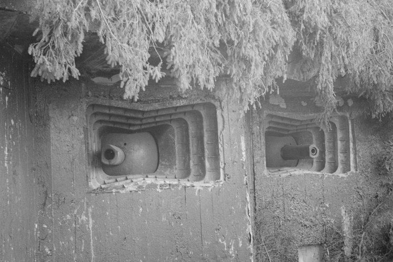 Двухамбразурные артиллерийские ДОТы в районе Энсо.