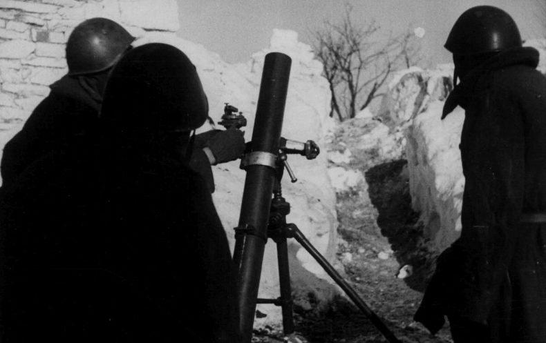 Итальянские минометчики на Восточном фронте. 1942 г.