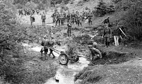 Венгерские войска в Карпатах. 1941 г.