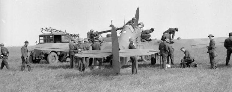 Британский отряд №102 эскадрильи RAF во Франции. Март 1940 г.