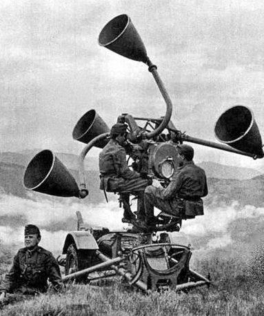 Акустическая установка в Карпатах. 1941 г.