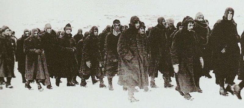 Пленные итальянцы под Сталинградом. Февраль 1943 г.