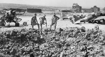 Аэродром Катания в Сицилии. Июль 1943 г.