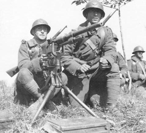 Французские пулеметчики. Апрель 1940 г.