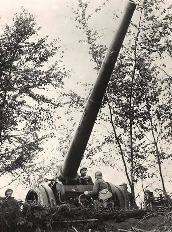 Расчет орудия 155-мм Mle 1916 года под названием «Мадлен». Франция, май 1940 г.