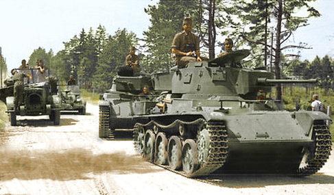 Венгерская танковая колонна танков «Толди». 1941 г.