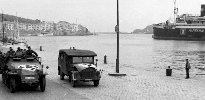 Порт-Вендрес в оккупации. 1942 г.