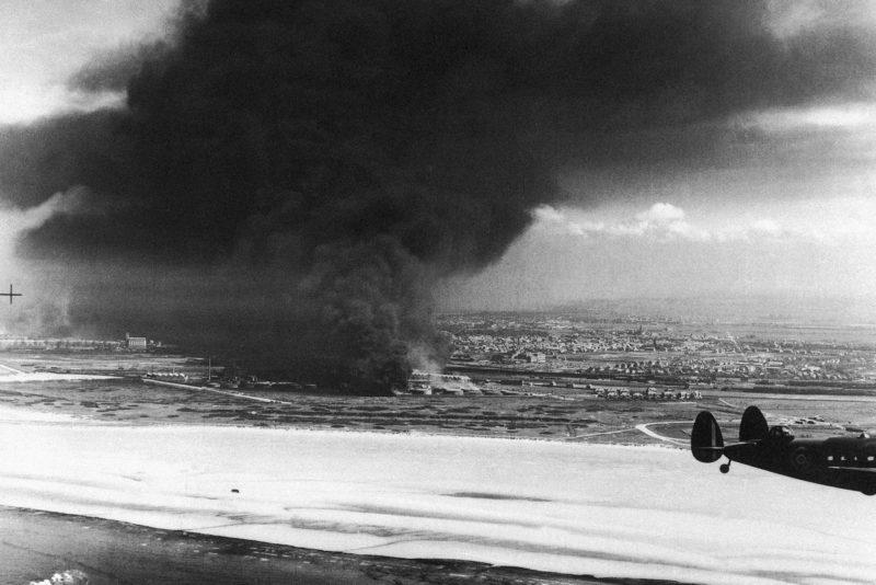 Пожар на нефтехранилище Дюнкерка. 30 мая 1040 г.