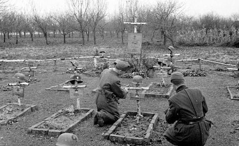 Венгерское кладбище на Украине. Апрель 1942 г.