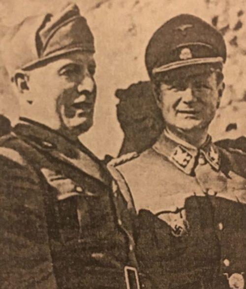 Бенито Муссолини с Карлом Вольфом. 1943 г.
