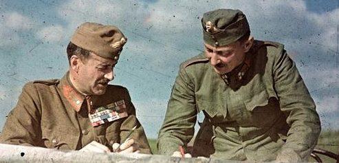 Венгерские офицеры на Восточном фронте. Май 1942 г.
