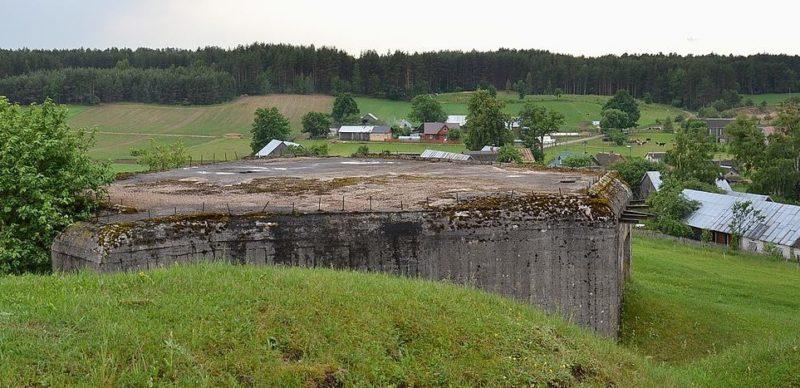 ДОТ у деревни Żabickie (ныне Польша).
