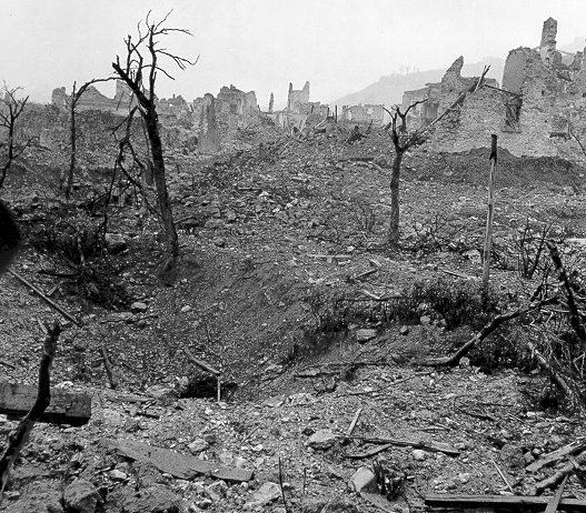 Руины города Кассино. Январь 1944 г.