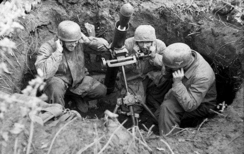 Немецкие десантники в Монте-Кассино. Февраль 1944 г.