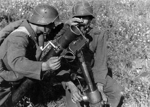 Венгерские минометчики на Донском фронте. Август 1942 г.