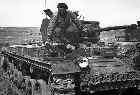Французский танк Валентин Mk V. Северная Африка, 1943 г.