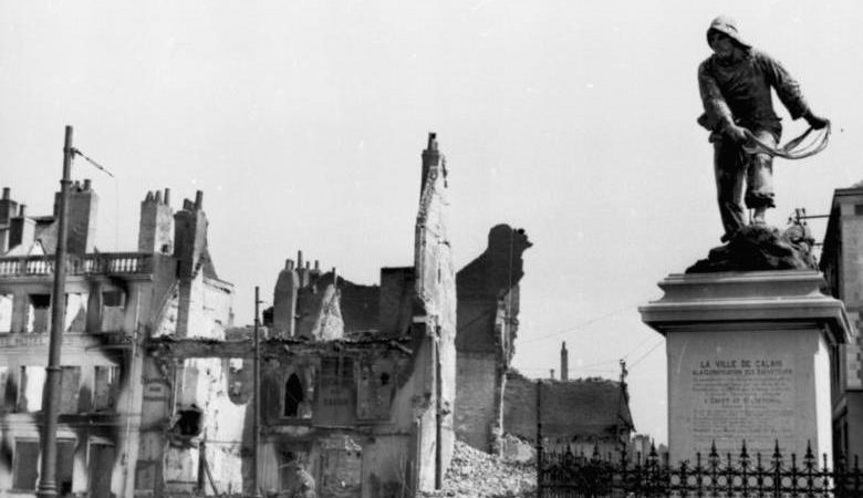 Разрушения в Кале. Май 1940 г.