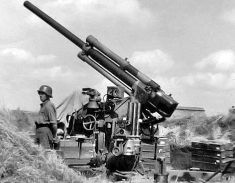 Венгерская зенитная батарея в полевых условиях на Восточном фронте. 1942 г.