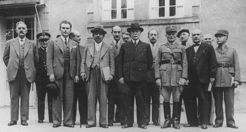 Первое правительство режима Виши. 18 июня 1940 г.