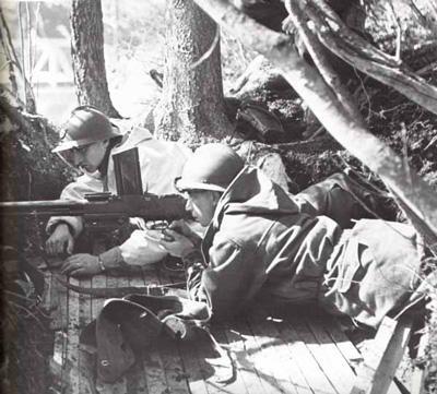 Французские пулеметчики в Нарвике. Июнь 1940 г.