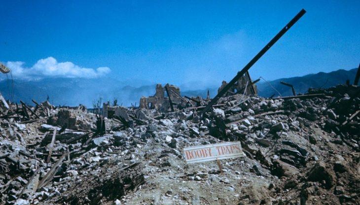 Панорама итальянского городка Рапидо после взятия союзниками. 1944 г.